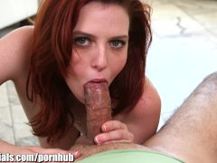 1000Facials My cock spitting on a redhead bitch s forhead