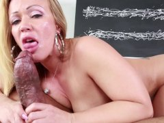 Austin Taylor Takes On A Big Black Cock
