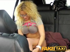 FakeTaxi Geeky blonde takes a pounding in taxi