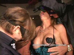 Crazed cougars and slut MILFs suck and fuck in swing club