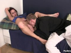 He is shocked after found her riding his bro s cock