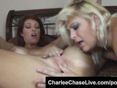 Big tit pussy licker Charlee Chase makes BBW MILF lesbian cum