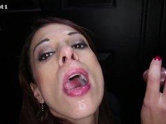 Gloryhole Secrets 32 loads of cum in her mouth part 1