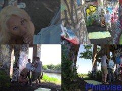 PHILAVISE  Public multi angle with milf Alyssa Lynn