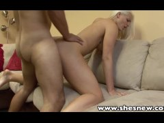 ShesNew Sexy blonde Macy Cartel POV sex cum swallow