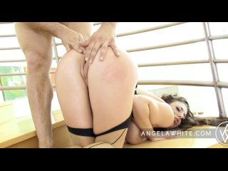 Busty Angela White Sucks and Fucks a Huge Cock and Squirts
