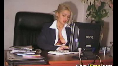 Sexy Secretary Horny At Work