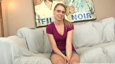 Cute little teen getting fucked after her interview