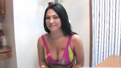 busty Kitty blows and fucks her interviewer