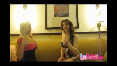 Ana Mancini and Lavina a Shemale and a Tranny