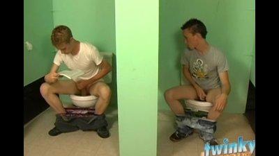 Nevin and Braden fuck in public bathroom