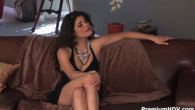 Couple of horny lesbians in black dresses