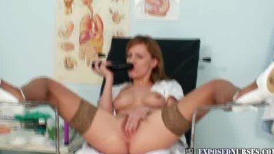 Viktorie naughty nurse pussy masturbation