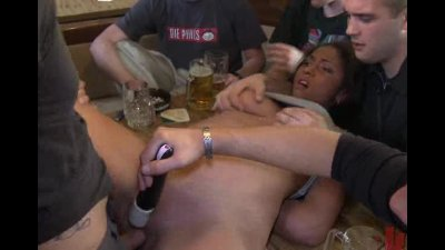 Voluptious slut taken on a fuck tour of Germany