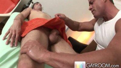 Rubbing twink ass