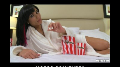 LATINO GIRLFRIEND CAUGHT ON VIDEO MASTURBATING WITH DILDO