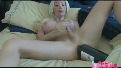Ana Mancini with a Bottle in her ass