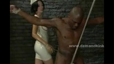 Brunette experienced mistress extreme bondage female domination v