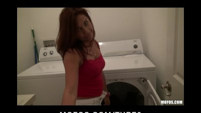 Hot sexy latin gf doing laundry gets fucked rough by bf's big cock