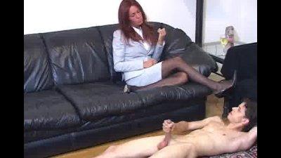 Solo cock masturbation for pee