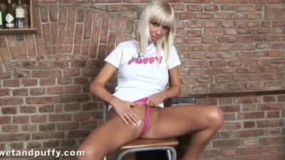 Natli Blond Modelling Her Body