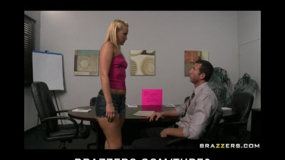 Big Butt blonde slut gets fucked hard anal by her boss at work