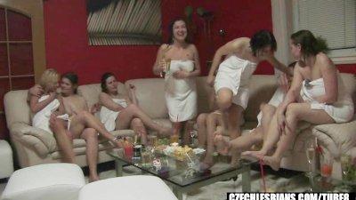 CUTE GIRLS AT CZECH LESBIAN PARTY