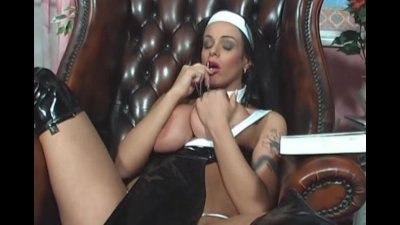 Nun Victoria Brown Fucks Her Pussy Ass With A Cross