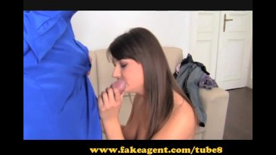 FakeAgent. Brunette with brace