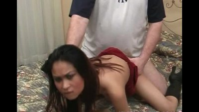 Sexy asian bitch gets cum on h