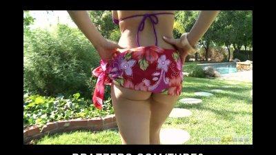 Busty bikini brunette Pornstar