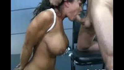 Lisa Ann Roughed Up and Gagging on Cock