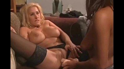 Big Tits Blonde Lesbian gets Fat Dildo Fuck