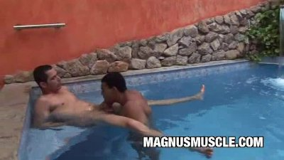 Latin Muscle Dudes Fucking By The Pool