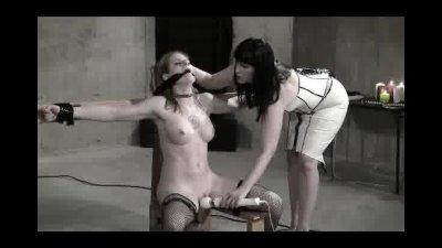 Wasteland Bondage Sex Movie Sexy Dominatrix in White Latex Pt.