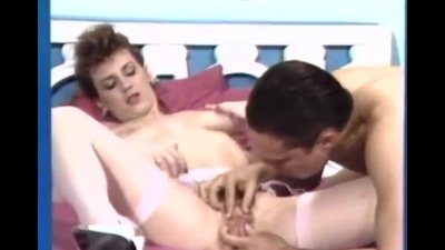 Retro orgasm on the throbbing dick