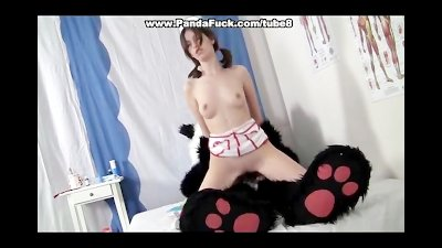 Pretty nurse cures Panda using