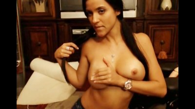 Gorgeous Latina Dildo Fucking