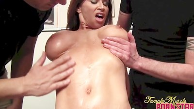 Devon Michaels Gets Oiled Up