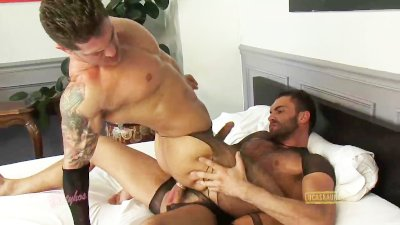 Vito Gallo wears a corset and aggressively fucks bottom in stockings