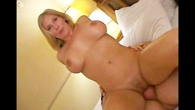 Blonde Sexy Slut Enjoying Mult