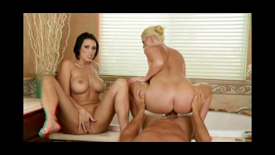 3DXSTAR Playful blonde and her busty brunette GF share bigdick