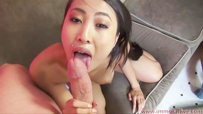 Jayden Lee Sharon Lee Compete In Cock Sucking Challenge