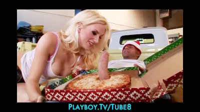 Bigtit blonde slut gets a surp