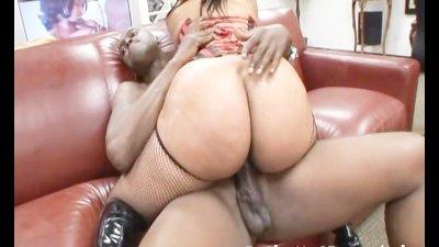 Black babe doing porn casting