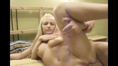 Sexy blondie is pounded