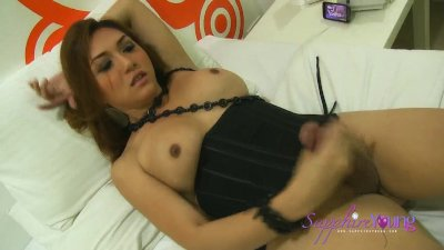 Sapphire Young in black
