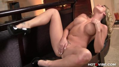 Blonde Pornstar Gets Ass Fucked With Hotgvibe.
