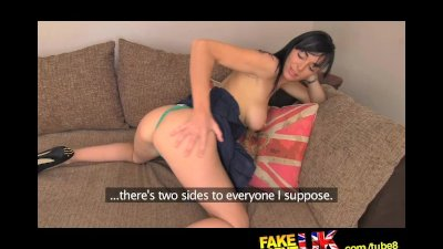FakeAgentUK Dirty talking MILF takes it in both holes