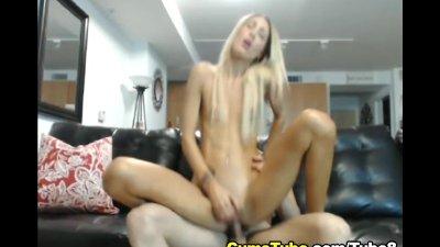 Hot Blonde Gets Covered in Cum HD